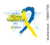 world down syndrome day   Shutterstock .eps vector #738057700