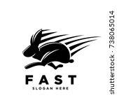 fast rabbit | Shutterstock .eps vector #738065014