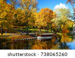 city park of the city of riga... | Shutterstock . vector #738065260
