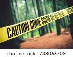 Crime Scene Tape In The Woods ...