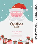 Christmas Market Poster With...