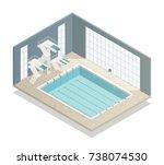 bath sport and leisure center... | Shutterstock .eps vector #738074530