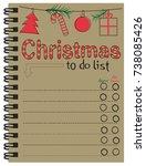 christmas to do list | Shutterstock .eps vector #738085426