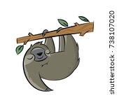 happy sloth clipart cartoon