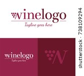 wine logo   vector illustration ...   Shutterstock .eps vector #738109294