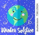 winter solstice  globes with... | Shutterstock .eps vector #738115024