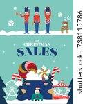 christmas greetings  christmas...   Shutterstock .eps vector #738115786