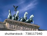quadriga on top of the... | Shutterstock . vector #738117340