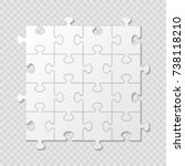 puzzle piece business... | Shutterstock .eps vector #738118210