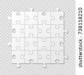 puzzle piece business... | Shutterstock .eps vector #738118210