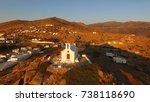 aerial bird's eye view photo... | Shutterstock . vector #738118690