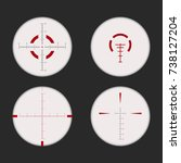 sniper scope white and red on... | Shutterstock .eps vector #738127204