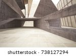 abstract  concrete and wood... | Shutterstock . vector #738127294