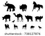 silhouette animal shape vector... | Shutterstock .eps vector #738127876
