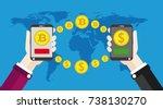 flat design with human hands ... | Shutterstock .eps vector #738130270