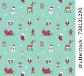 lovely merry christmas vector... | Shutterstock .eps vector #738131290