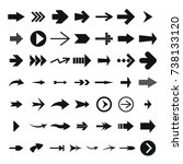 different arrow icon set.... | Shutterstock . vector #738133120