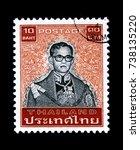 thailand   circa 2016  a thai...   Shutterstock . vector #738135220