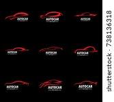 car logo set | Shutterstock .eps vector #738136318