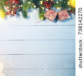 christmas holiday background... | Shutterstock . vector #738142270