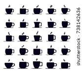 coffee cup icon vector set | Shutterstock .eps vector #738142636