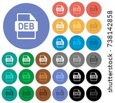 deb file format multi colored...