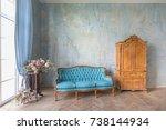 antique beautiful chic... | Shutterstock . vector #738144934