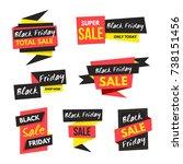 black friday sale banner...   Shutterstock .eps vector #738151456