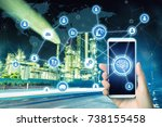 ai artificial intelligence  and ... | Shutterstock . vector #738155458