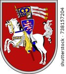 coat of arms of marburg is a... | Shutterstock .eps vector #738157204