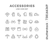 set line icons of accessories... | Shutterstock .eps vector #738166369