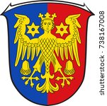 coat of arms of aurich is a... | Shutterstock .eps vector #738167008
