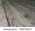 xian china  12 august 2005  the ...   Shutterstock . vector #738170614