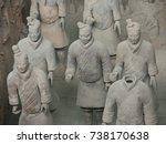 xian china  12 august 2005  the ...   Shutterstock . vector #738170638