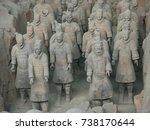 xian china  12 august 2005  the ...   Shutterstock . vector #738170644