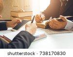 the hard work of an asian... | Shutterstock . vector #738170830