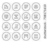 set round line icons of industry | Shutterstock .eps vector #738171610