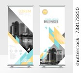 business roll up design... | Shutterstock .eps vector #738173350