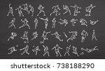 big set ball sport doodles on... | Shutterstock .eps vector #738188290