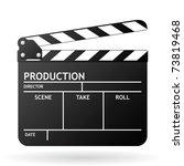 clapper board on white...   Shutterstock .eps vector #73819468
