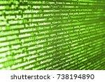 developer working on websites... | Shutterstock . vector #738194890