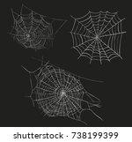 spider web sketch vector... | Shutterstock .eps vector #738199399