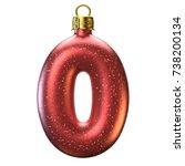 christmas tree decoration font  ... | Shutterstock . vector #738200134