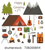 camping | Shutterstock .eps vector #738200854