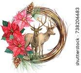 Christmas Wreath  Winter...