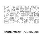 statistics linear horizontal... | Shutterstock .eps vector #738209608