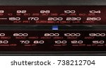 closeup on the frequency... | Shutterstock . vector #738212704