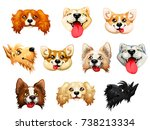 the darling dogs breed cocker...   Shutterstock .eps vector #738213334