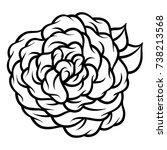 flower rose  black and white.... | Shutterstock .eps vector #738213568