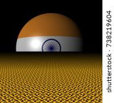 indian flag sphere and... | Shutterstock . vector #738219604